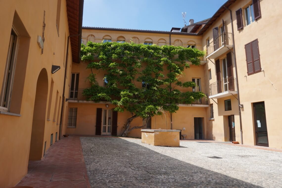 Der Hof vom Studentenwohnheim