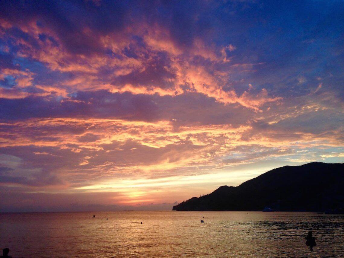Der Sonnenuntergang war atemberaubend!