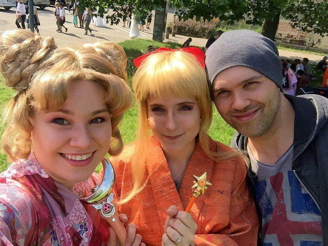 Désirée Richter mit ihren Bandkollegen Saleia und Yukiya (v.l.n.r.) © privat