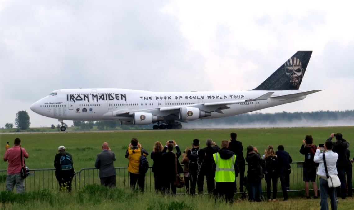 "Ein weiteres Highlight: Die ""Ed Force One"" der Heavy Metal Band Iron Maiden."