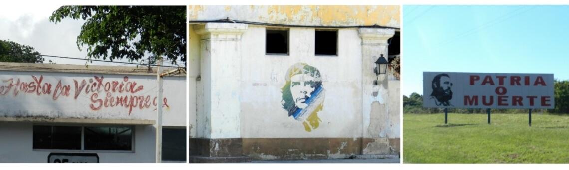 Noch immer sind Slogans und Symbole der Revolution auf Straßenschildern und Hauswänden zu lesen. © f1rstlife / Gefjon Off