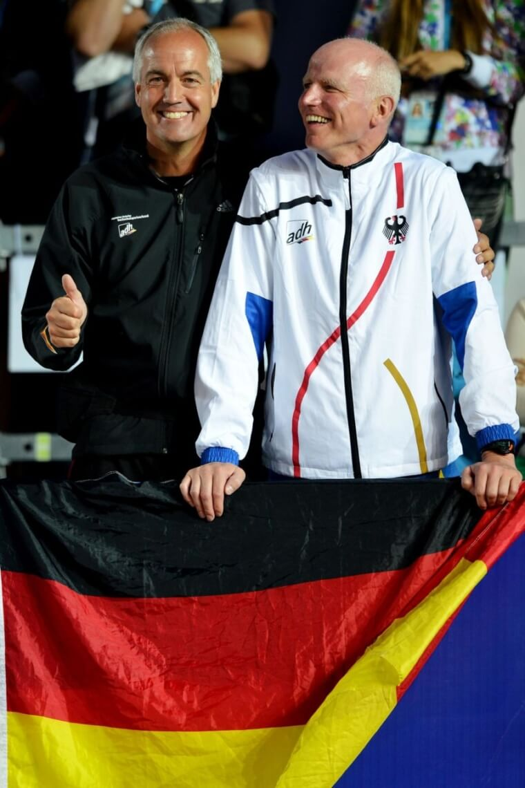 Pastors Thomas WEBER and Thomas Paul NONTE of Germany react during the Men's Beachvolleyball Final between Germany and Poland during the 27th Universiade on July 13, 2013 in Kazan, Russia (by Alexander Vogel)